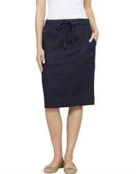 David Jones Linen Pull On Skirt