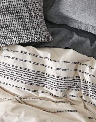 Madewell Coyuchi Rippled Stripe Organic Cotton Duvet Cover