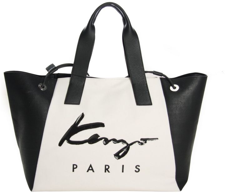 KenzoKenzo White Signature Paris Tote