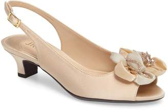 J. Renee Leonelle Slingback Crystal Embellished Sandal