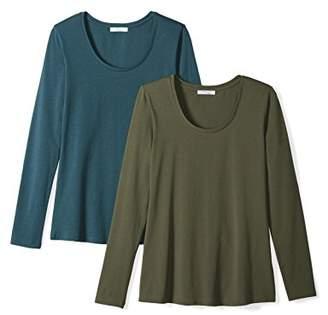 Daily Ritual Women's Stretch Supima Long-Sleeve Scoop Neck T-Shirt