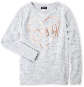 DKNY Girls 4-6x) Foil Logo Long Sleeve Top