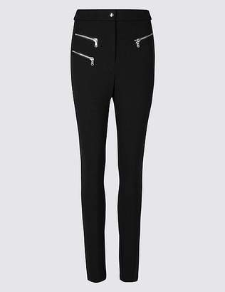 Marks and Spencer Zipped Pocket Skinny Leg Trousers