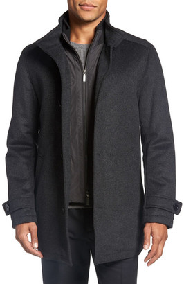 HUGO BOSS Camlow Wool & Cashmere Car Coat $695 thestylecure.com