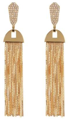 Vince Camuto CZ Pave Tassel Earrings