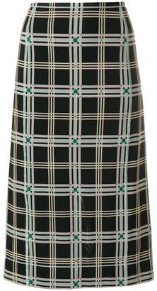 Fendi plaid pencil skirt