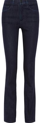 J Brand - Cameron High-rise Bootcut Jeans - Dark denim $190 thestylecure.com