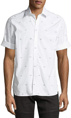 Neil Barrett Military Arrow Short-Sleeve Cotton Shirt