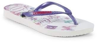 Havaianas Kid's Princess Sofia Slim Rubber Flip Flops