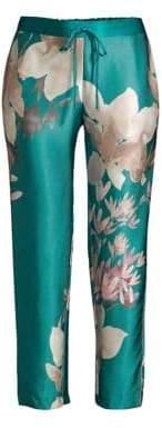 Natori Josie Deco Silk Pants