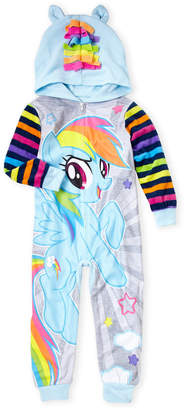My Little Pony Girls 4-16) Hooded Pony Footed Pajamas