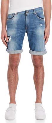 Love Moschino Denim Rolled Cuff Bermuda Shorts
