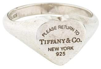 Tiffany & Co. & Co. Return To Heart Signet Ring