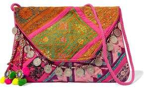 Antik Batik Embellished Embroidered Cotton Wallet