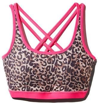 Wear It To Heart Leopard Print Strappy Sports Bra