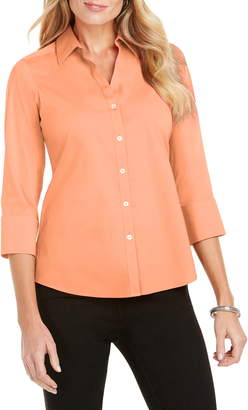 Foxcroft Mary Button-Up Blouse