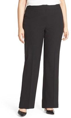 Plus Size Women's Sejour 'Ela' Stretch Curvy Fit Wide Leg Suit Pants $89 thestylecure.com