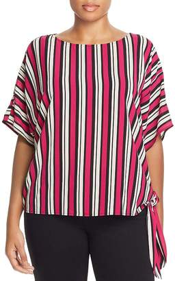 MICHAEL Michael Kors Striped Side-Tie Top
