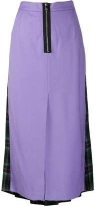 Natasha Zinko contrast pleated skirt