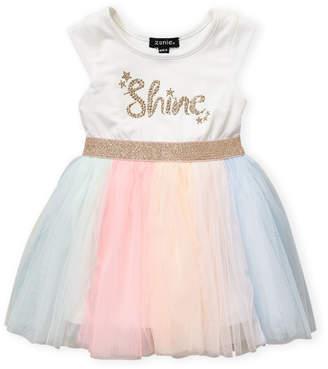 34ea6e038 Zunie Toddler Girls) Shine Rainbow Tulle Dress