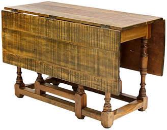 One Kings Lane Vintage Spanish Harvest Folding Gateleg Table - de-cor