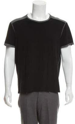 Dolce & Gabbana Woven Crew Neck T-Shirt