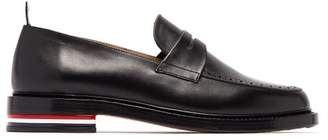 Thom Browne Leather Penny Loafers - Mens - Black