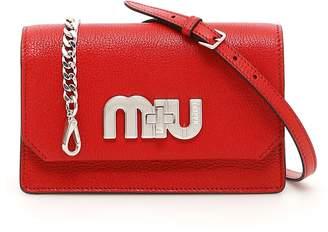 Miu Miu Miu Logo Madras Bag