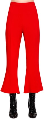 Antonio Berardi Flared & Cropped Cady Pants