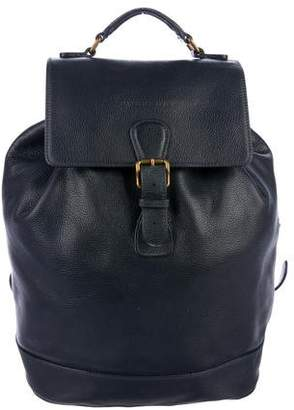 Burberry Grained Leather Backpack