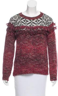 Sanctuary Long Sleeve Fringe-Trimmed Sweater