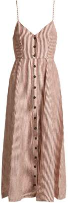Mara Hoffman Morgan striped linen midi dress