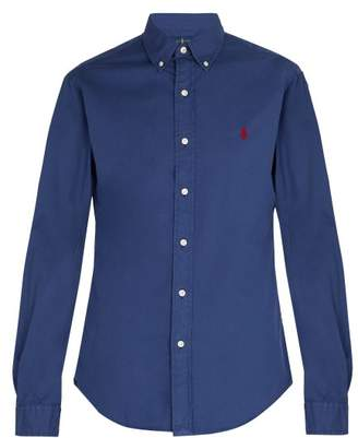Polo Ralph Lauren Logo Embroidered Long Sleeve Cotton Shirt - Mens - Navy
