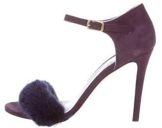Blood & Honey Mrs Right Fur-Trimmed Sandals