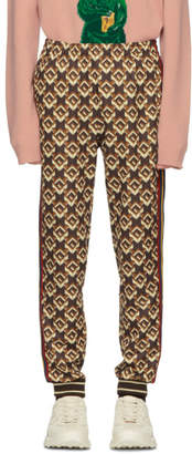 Gucci Brown Isometric G Lounge Pants