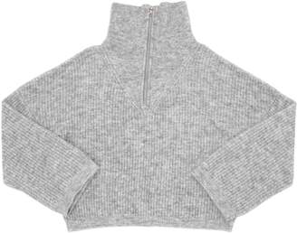 Blend of America Wool Rib Knit Turtleneck Sweater