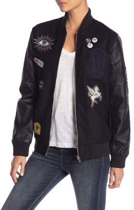 Obey Vacancy Clean Faux Leather Bomber Jacket