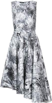 Rubin Singer marble print asymmetric dress