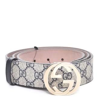 Gucci Interlocking G Belt Monogram GG Supreme Navy Blue