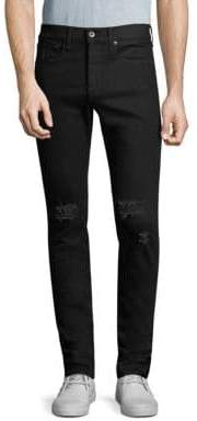 Rag & Bone Fit 1 Skinny-Fit Distressed Jeans