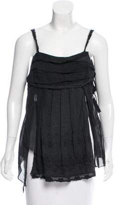 Hache Sleeveless Contrasted Top