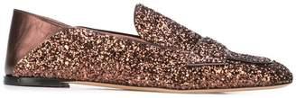Rochas glitter loafers