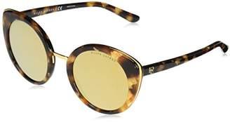 Ralph Lauren Sunglasses Women's Plastic Woman Sunglass Non-Polarized Iridium Round