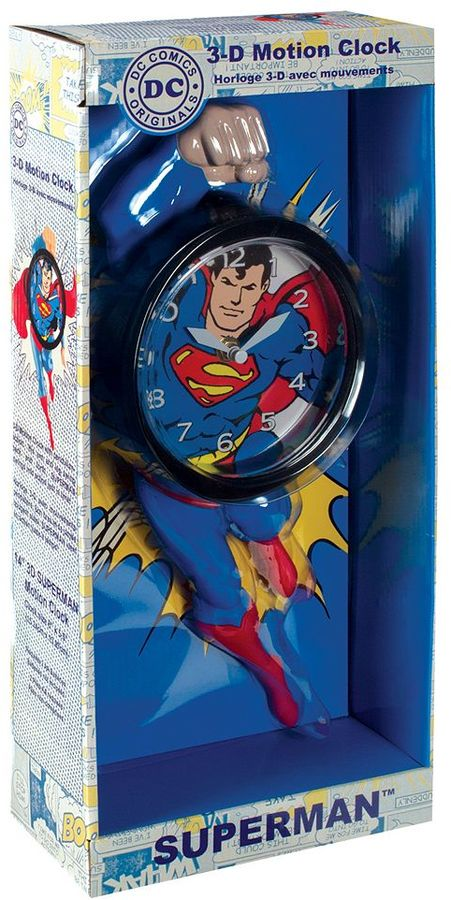 Nj croce DC Comics Superman 3D Motion Clock by NJ Croce