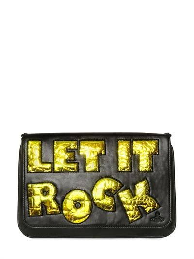 Vivienne Westwood Let It Rock Leather Clutch