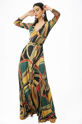 Forever 21 Geo Print Surplice Maxi Dress