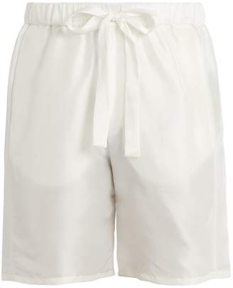 HECHO Drawstring-waist silk shorts