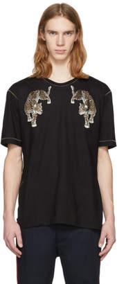 Dolce & Gabbana Black Leopard T-Shirt