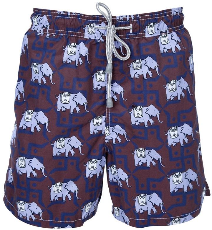 MC2 Saint Barth Elephant print swimming shorts