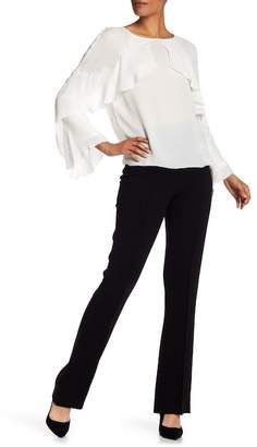 Nicole Miller Front Pleat Woven Pants